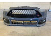 FORD FOCUS ST3 COMPLETE FRONT BUMPER IN EXCELLENT CONDITION WITH EVERYTHING FOGS EX EX