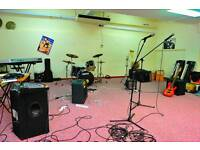 Band room, music production, rehearsal room, studio, Glasgow