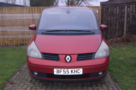 Renault Espace 1.9Dci Dynamique in Red, 55 plate **spares or repair** £600 ONO