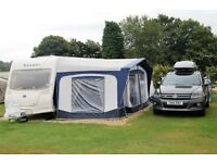 AWNING. BRADCOT CLASSIC 945 IN BLUE WITH BRADCOT ANNEXE AND INNER DOUBLE SLEEPING QUARTERS