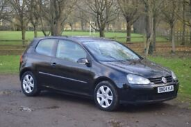 Volkswagen Golf FSI S (2004 Reg). Black. 1.4L Petrol. 3 door hatchback. Manual gearbox.