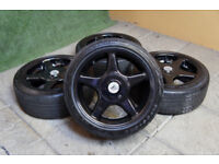 Genuine Brock B1 BCW Alloy wheels 4x100 & 4x108 Clio Corsa Fiesta Civic Alloys