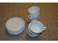 Set of 6 White Coffee/Tea Cups