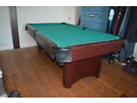 Elegant & Professional Pool Table 7x4ft, made from solid wood and fitted with a pine green cloth