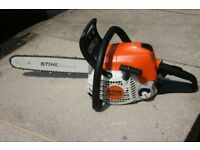 Stihl MS171 petrol chainsaw as new in mint condition