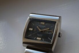 Favre-Leuba Sea Raider 36000 automatic Hi Beat mechanical wristwatch - Swiss -Cal 1164 - '70s