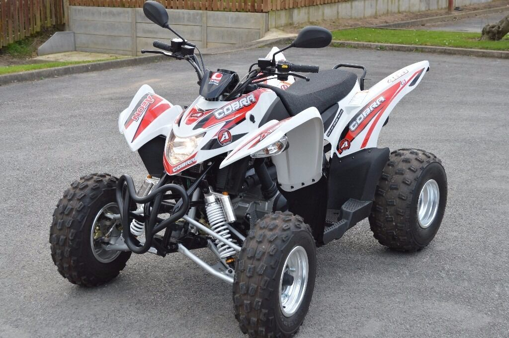 2016 Aeon Cobra 400 Road Legal Sports Quad Bike White 16 Plate