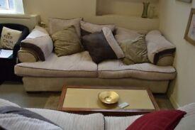 Cream 3 Seat Sofa - GT 079