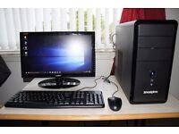 Zoostorm Full Desktop PC, i3 Quad Core, 120GB SSD + 500GB HDD, 8GB Ram, WiFi, Running Windows 10