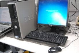 Dell Optiplex 380 Refurbished Desktop PC Computer system windows 7 word excel office 17 inch monitor