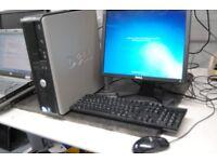 Dell Optiplex 380 Refurbished Desktop PC Computer system windows 7 word excel office 17 inch monitor