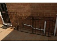 Wrought iron fence/gate panels.