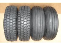 NEW 300 x 4 (265 x 85) BLACK Puncture Proof Mobility Scooter Tyres