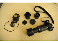 Olympus E-410 With Zuiko 70-300mm, Zuiko 9-18mm & Zuiko 17.5 - 45mm Excelent Condition - hardly used