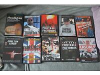 football hooligan dvds x 10 (2 go for crazy money on amazon) all in great condition buyer collects