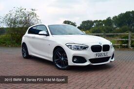 BMW 1 Series F21 2015 118d M-Sport 3dr Apline White - High Spec - Mint Condition