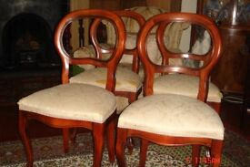 Four beautiful ballon back design dinning chairs
