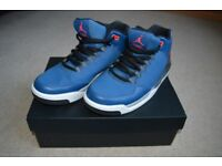 Blue Jordan Flight Basketball Shoes - Great Condition. Size: 8.5 UK, 43 EU. Box Included.