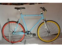 Brand new single speed fixed gear fixie bike/ road bike/ bicycles + 1year warranty & free service zq