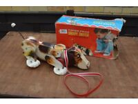 1960's Vintage Fisher Price Large Snoopy Pull Along Dog
