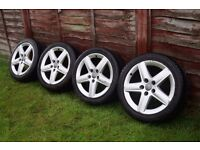 "17"" Audi Sport S-Line Alloys Wheels ( 4x tires 225/45/17 ) 5x112 * A4 Golf Passat Skoda"
