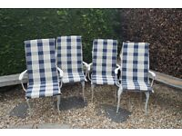 Cushions for garden chairs, set of 4