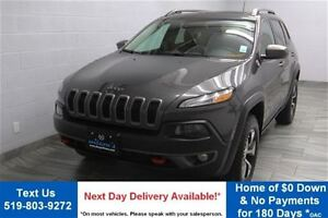 2015 Jeep Cherokee TRAILHAWK! 4WD V6 w/ NAVIGATION! LEATHER! PAN