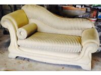 Gold coloured Chaise Longue