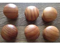 6x 35mm wooden knobs