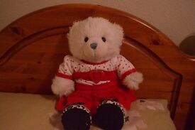 Build-A-Bear in a Valentine's Day outfit