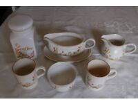 M & S Harvest China, 8 Items, Teapot, Jug, etc All in Excellent Condition