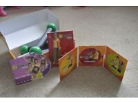 Zumba Fitness Workout (4 x DVDs) With Toning Sticks and Transformation Guide