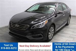 2016 Hyundai Sonata 2.4L SPORT TECH w/ NAVIGATION! PARTIAL LEATH