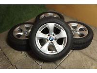 Genuine BMW 3 Series F30 F31 Alloy wheels & Winter Tyres 5x120 Silver Alloys Snow