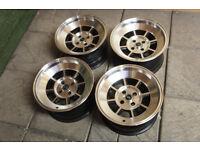 "Genuine ROTA BM8 / Shakotan 15"" Alloy wheels 4x100 Mx5 Eunos Civic JDM Crx Yaris Clio Corsa Alloys"