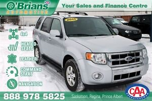 2011 Ford Escape Limited - 4x4 NAV Leather Cmd Start