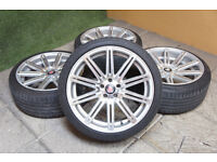 Genuine AXE EX15 Staggered Alloy wheels 5x100 VW Beetle Bora Golf MK4 Audi A3 TT Alloys Celica