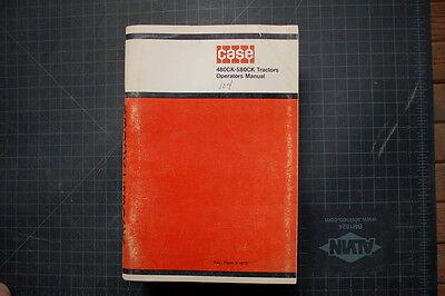 Case 480ck 580ck Backhoe Loader Operation Operator Manual Guide Book