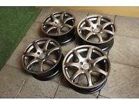 "Genuine TVR 18"" Spider Alloy wheels 5x114.3 Tuscan Cerbera Sagaris T350 Tamora S14 S15 350Z Stance"