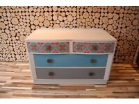 GETAFE- SIDEBOARD , DRESSING TABLE, SHABBY CHIC,Annie Sloan , VINTAGE,free delivery Glasgow