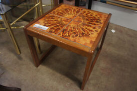 Small tile top coffee table