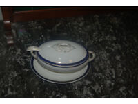 Approximately 1900's English Antique unmatched blue and white dinnerware