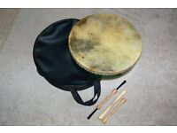 DRUM, BRUSHES AND BAG