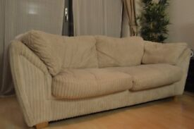 BARGAIN **White Sofa - for collection in Glasgow City Centre