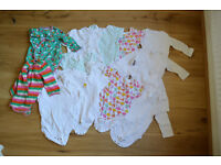 9-12 months Set of 14 cosy sleep suits (Next, M&S), long and short sleeved £9