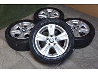 """Genuine BMW 1 Series 16"""" Alloy wheels & Tyres 3 Series E81 E82 E88 E87 E46 E36"""