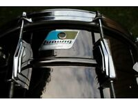 """Ludwig 419 Black Beauty snare drum 14 x 6 1/2"""" - First re-issue - '79-'81"""