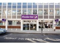 Premier Inn: 4 nights stay (5th July - 9th July) in London Holborn, 27-29 Red Lion Street.
