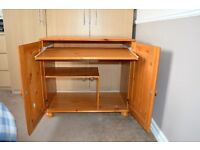 Pine Computer Cupboard