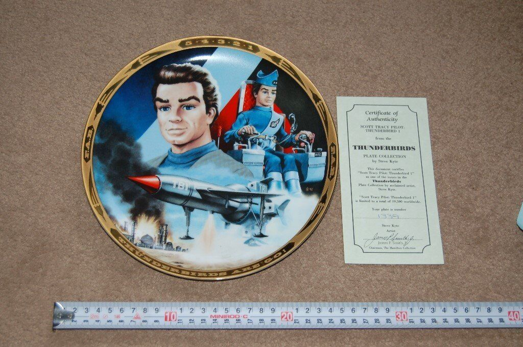 """Thunderbirds"" plates, limited editions."